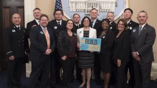 Assemblymember Aguiar-Curry photo with ACA 1 stakeholders