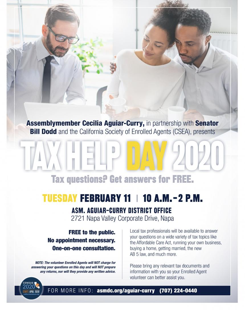 Tax Help Day 2020 flyer