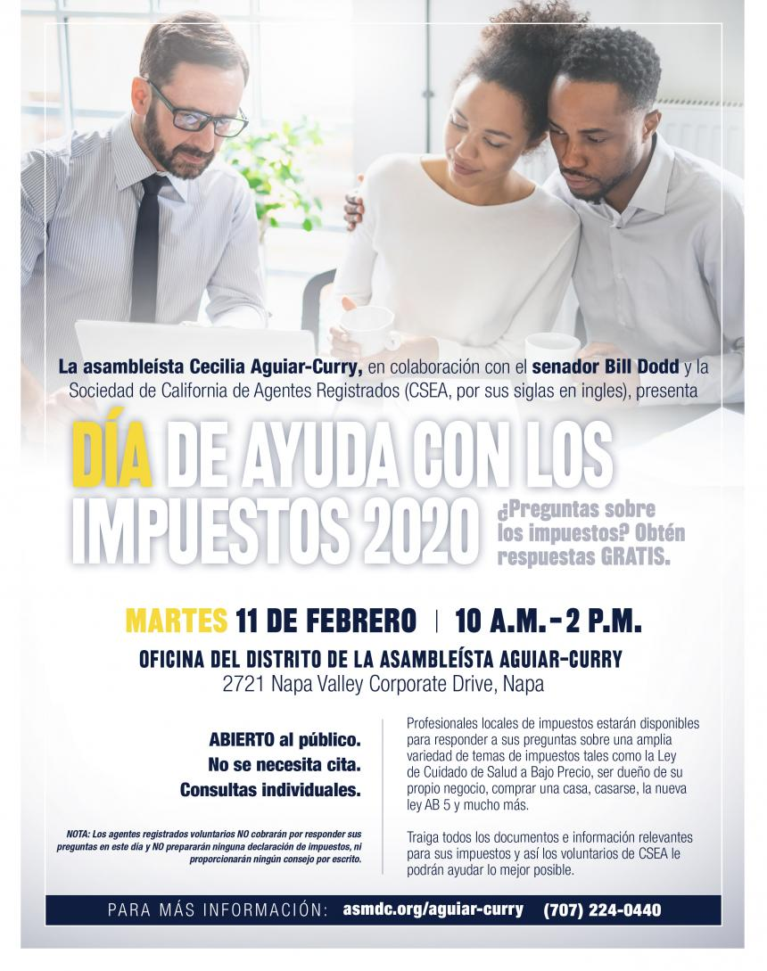 Tax Help Day 2020 Spanish flyer