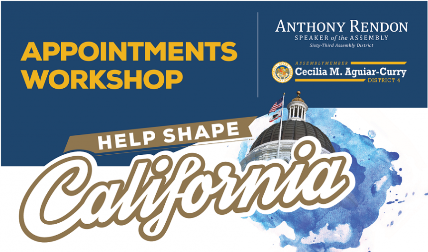 Help Shape California - Appointments Workshop