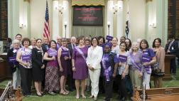 Assemblymember Aguiar-Curry with members of the Alzheimer's Awareness Community