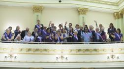 Members of the Alzheimer's Awareness Community in the Assembly Gallery