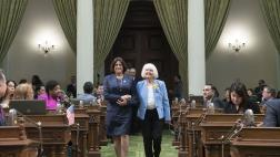 Assemblywoman Aguiar-Curry Walks with Woman of the Year Marime Burton