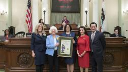 Assemblywoman Aguiar-Curry Honors Woman of the Year Marime Burton