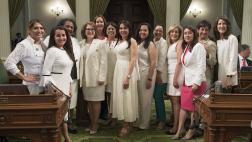 Women's Caucus on White Suit Day at the Capitol